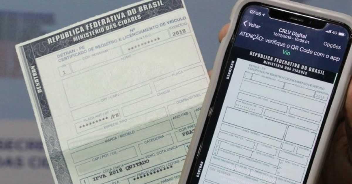 Fim do documento físico: entenda como funciona o documento de carro digital