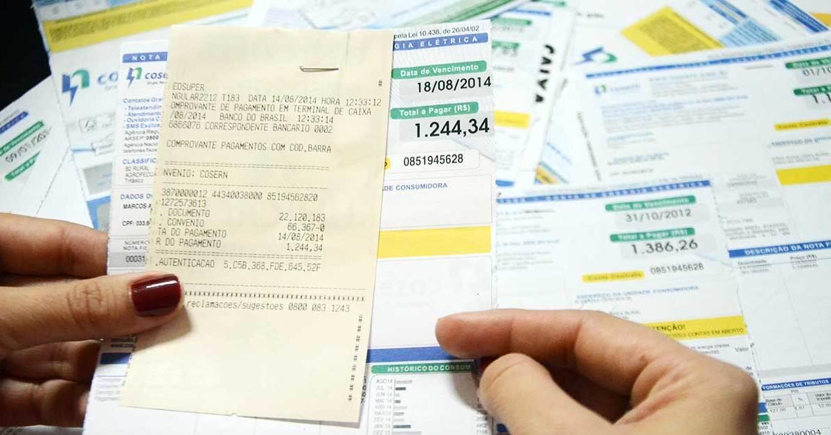 Comprovantes de contas pagas devem ser guardados por quanto tempo?