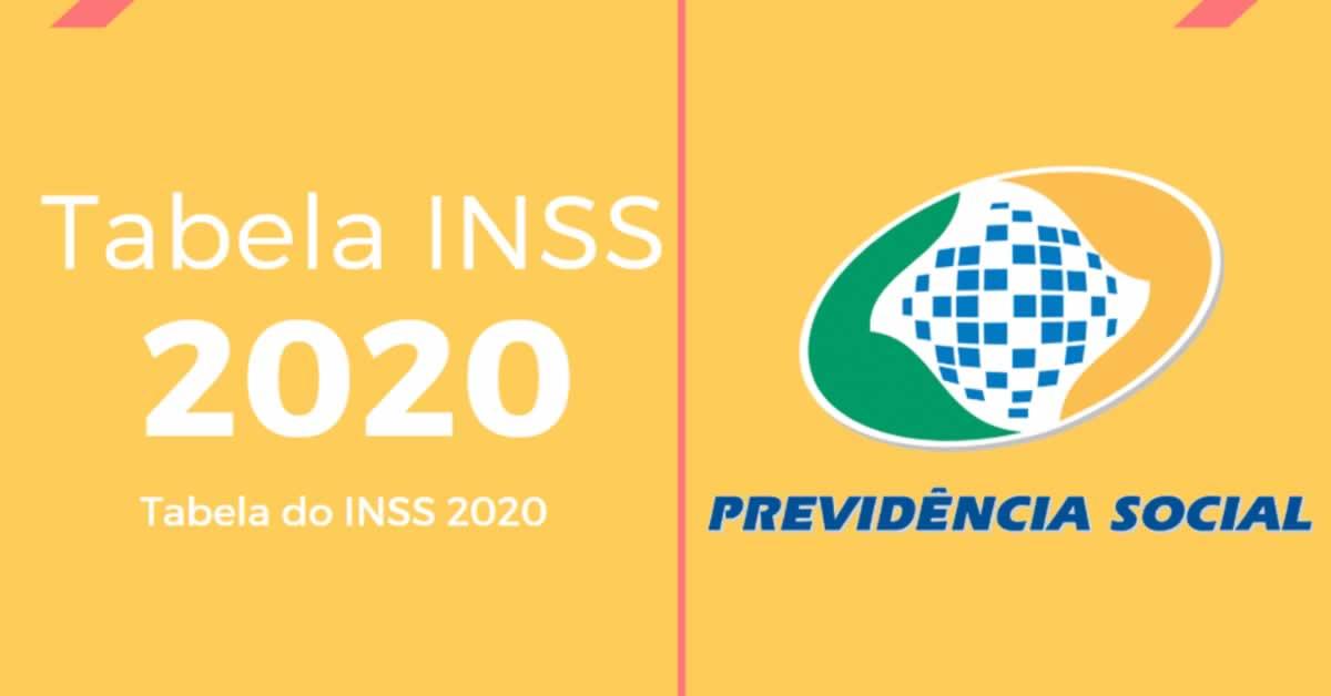 Tabela INSS 2020 é divulgada: Confira os novos valores das alíquotas